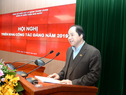 <span><span>(BKTO) - </span>Ngày 14/01, tại Hà Nội, Đảng ủy KTNN đã tổ chức Hội nghị tổng kết công tác Đảng năm 2018 và triển khai nhiệm vụ năm 2019. Báo cáo tại Hội nghị nhấn mạnh, b<span>ám sát các nghị quyết của Đảng, nghị quyết của Đảng ủy Khối các cơ quan T.Ư (Đảng ủy Khối), Nghị quyết Đại hội VI của Đảng bộ KTNN, 8 đề án thuộc 2 chương trình của Đảng ủy KTNN và trên cơ sở các chủ trương, định hướng hoạt động của ngành, năm 2018, toàn Đảng bộ đã tập trung lãnh đạo, triển khai thực hiện và hoàn thành toàn diện nhiệm vụ năm 2018 theo chương trình, kế hoạch đề ra.</span></span>  <br><span><br>Tác giả: <b>NHÓM PHÓNG VIÊN</b></span>