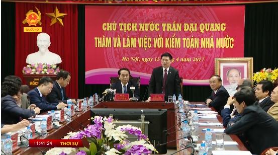 Đài truyền hình VTC1 phỏng vấn Tổng Kiểm toán nhà nước nhân dịp Xuân Đinh Dậu