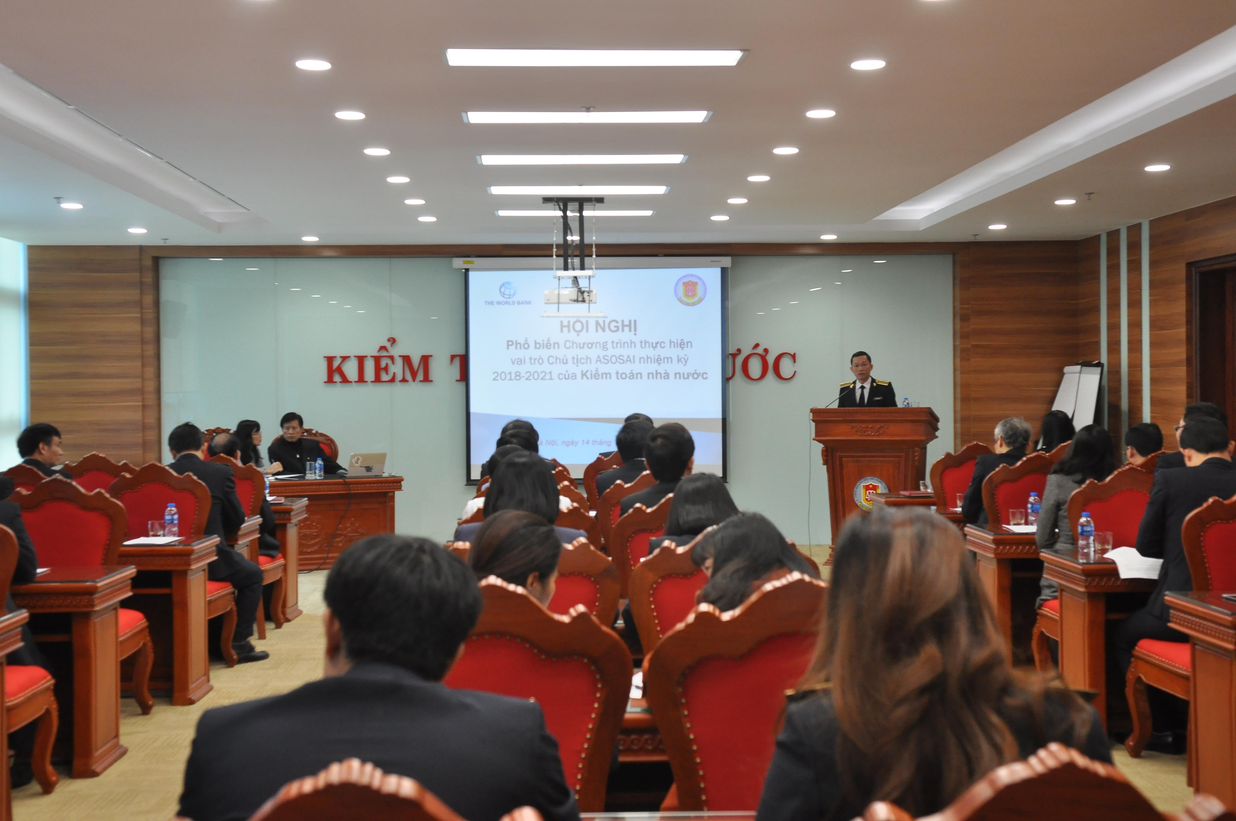 Phổ biến Chương trình thực hiện vai trò Chủ tịch ASOSAI nhiệm kỳ 2018-2021 của KTNN