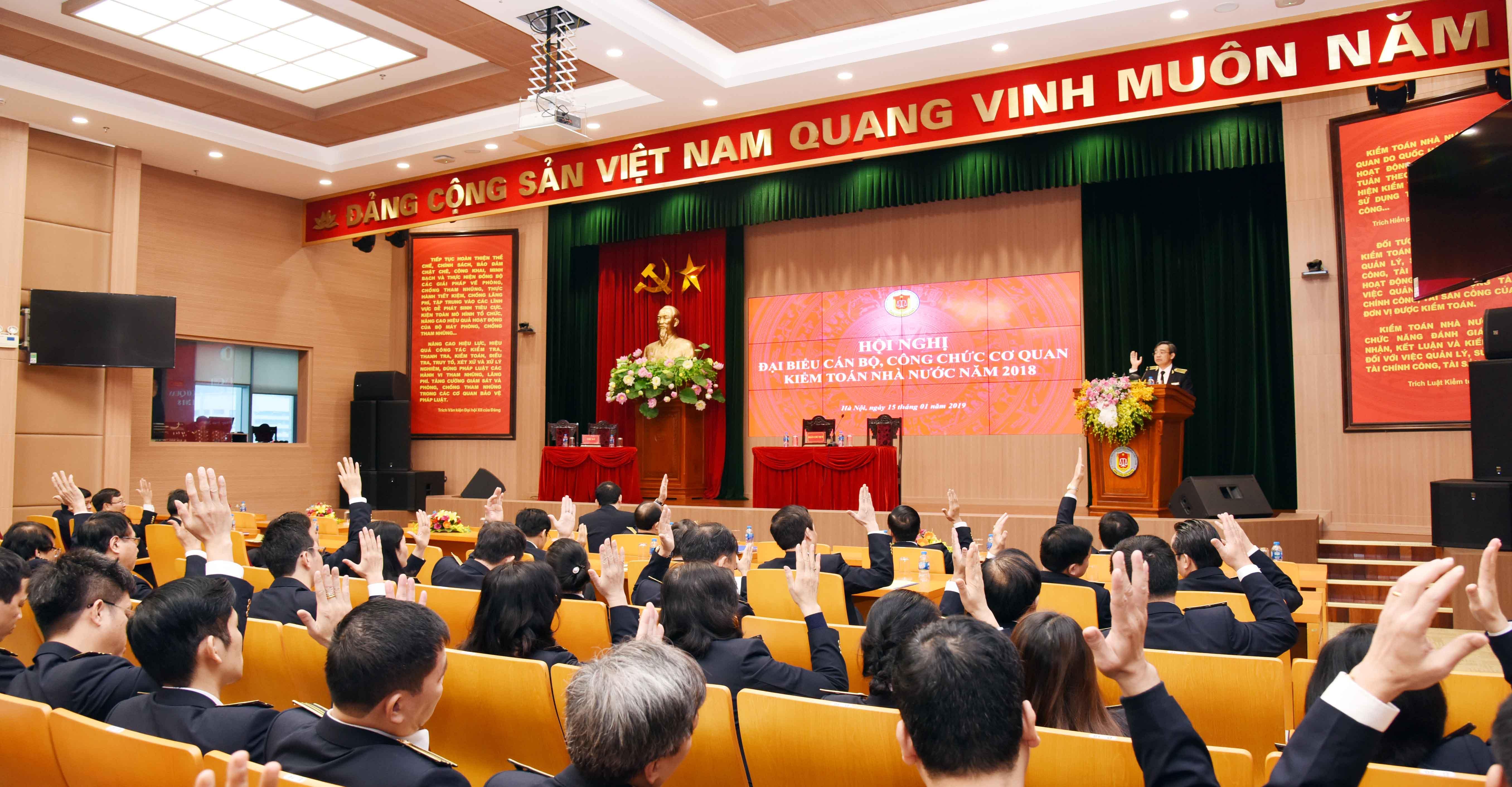 Hội nghị đại biểu cán bộ, công chức cơ quan KTNN năm 2018