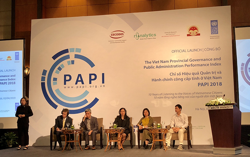 Chỉ số PAPI năm 2018: Tham nhũng giảm, chất lượng dịch vụ công cần cải thiện