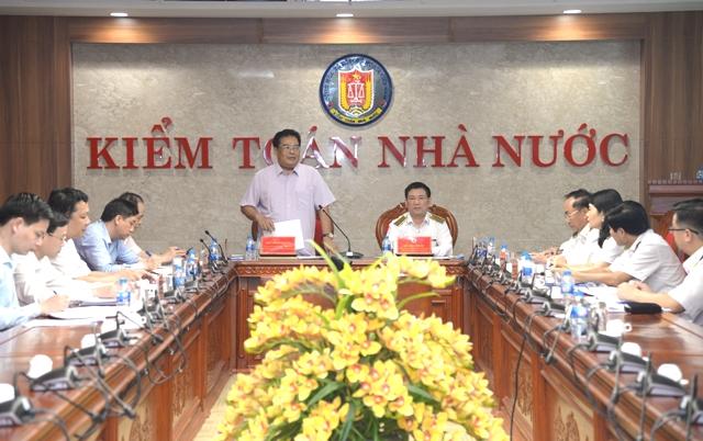 Đảng ủy Khối các cơ quan Trung ương làm việc với Ban cán sự Đảng và Ban Thường vụ Đảng ủy Kiểm toán Nhà nước