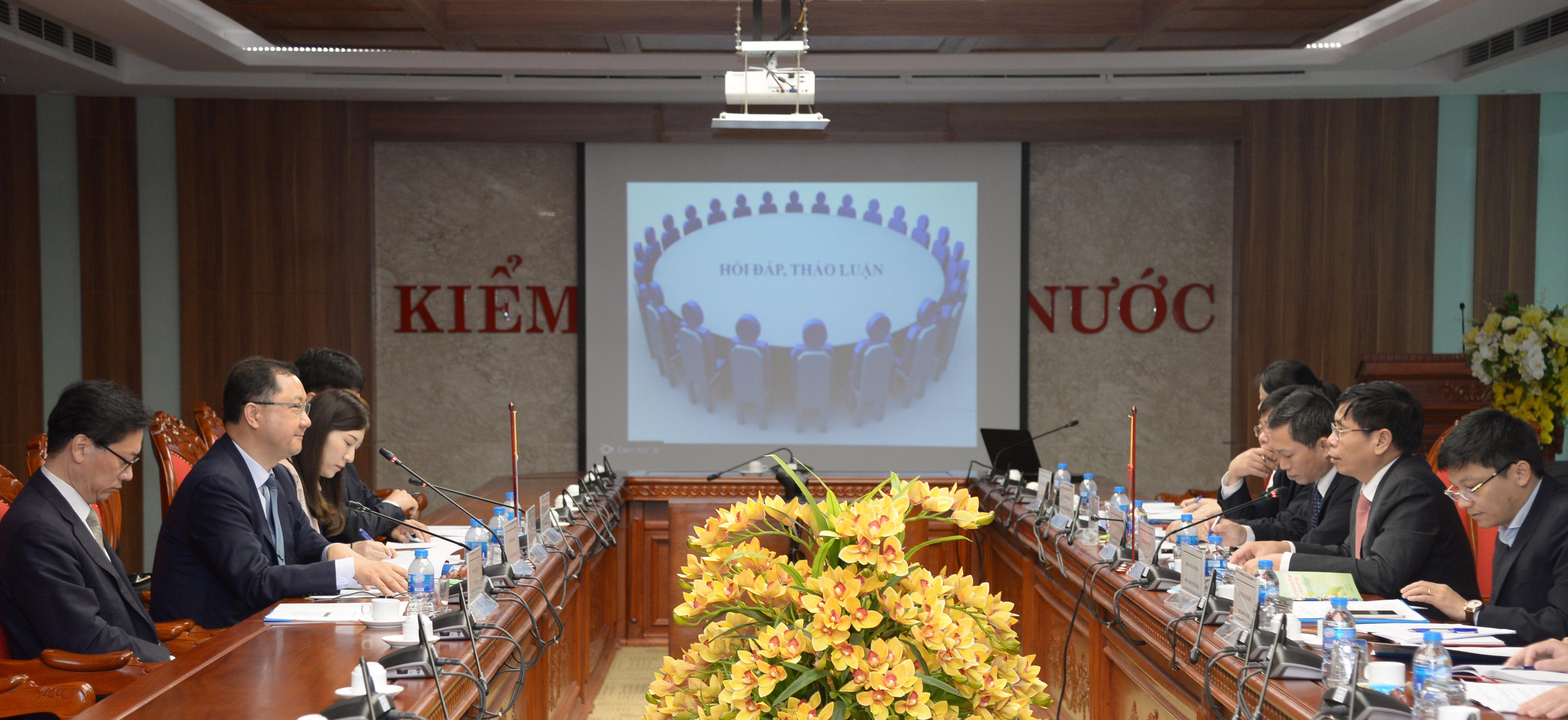 KTNN Việt Nam làm việc với Đoàn công tác Ủy ban Kiểm toán và Thanh tra Hàn Quốc