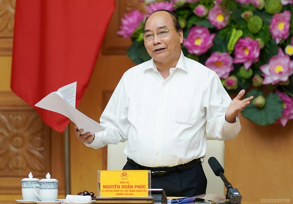 Thủ tướng Nguyễn Xuân Phúc chủ trì cuộc họp Tiểu ban Kinh tế- Xã hội