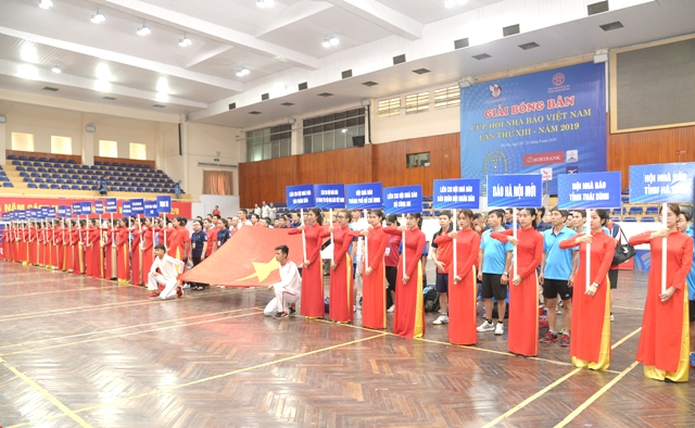 Gần 200 vận động viên tham gia Giải Bóng bàn Cúp Hội Nhà báo Việt Nam lần thứ XIII- năm 2019