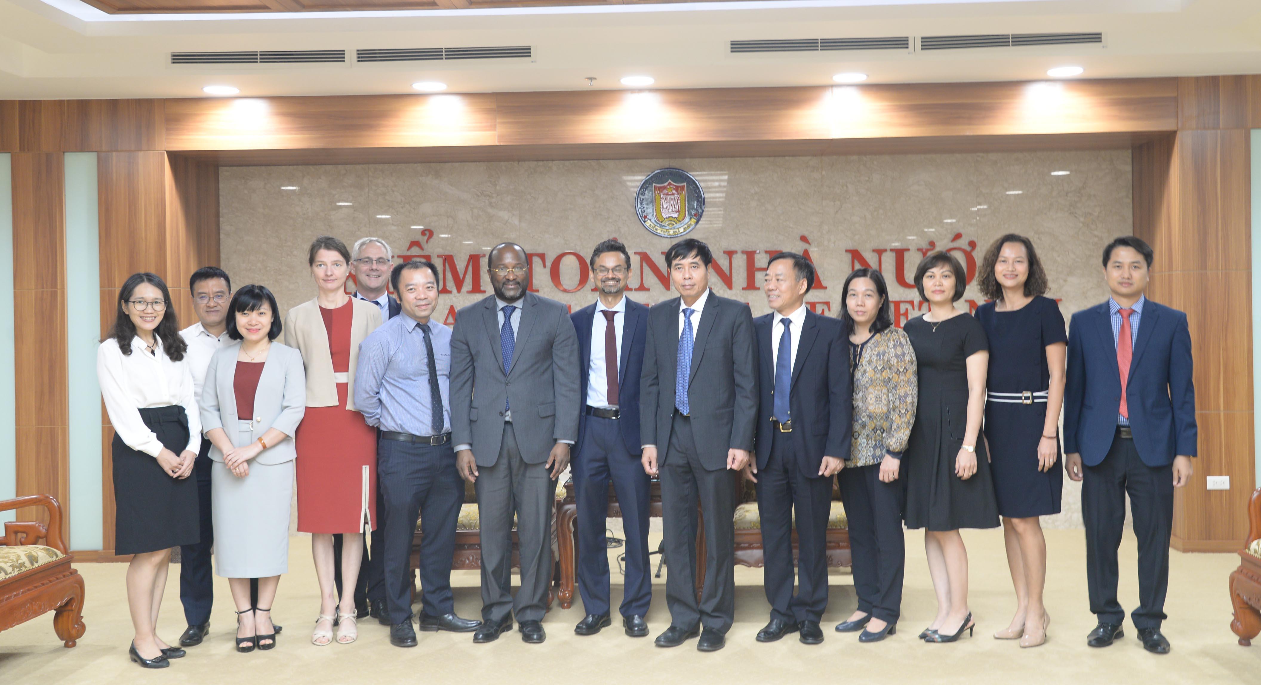 Phó Tổng Kiểm toán Nhà nước Nguyễn Tuấn Anh tiếp xã giao lãnh đạo Ngân hàng Thế giới