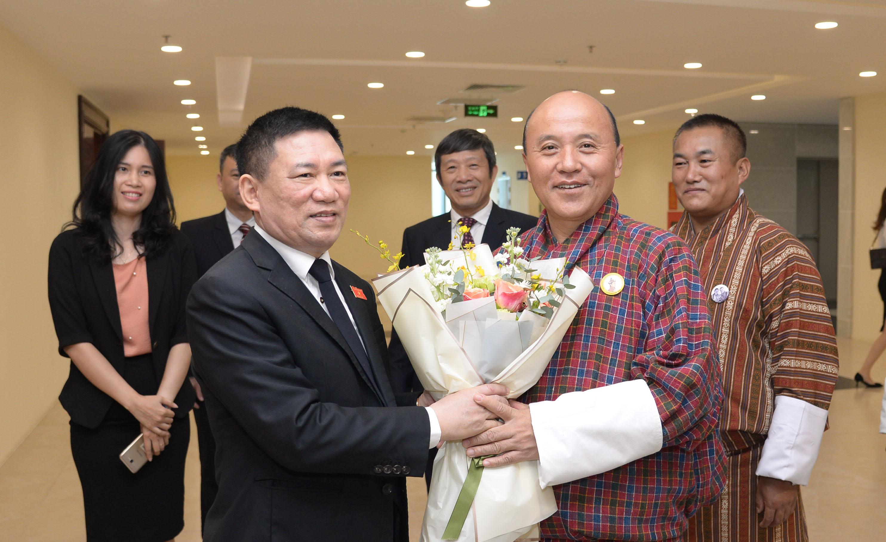 Tổng Kiểm toán Nhà nước Hồ Đức Phớc tiếp Tổng Kiểm toán Nhà nước Bu-tan Tshering Kezang