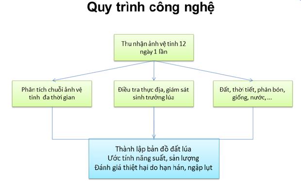Sử dụng tín hiệu vệ tinh vào theo dõi sản xuất lúa tại Việt Nam
