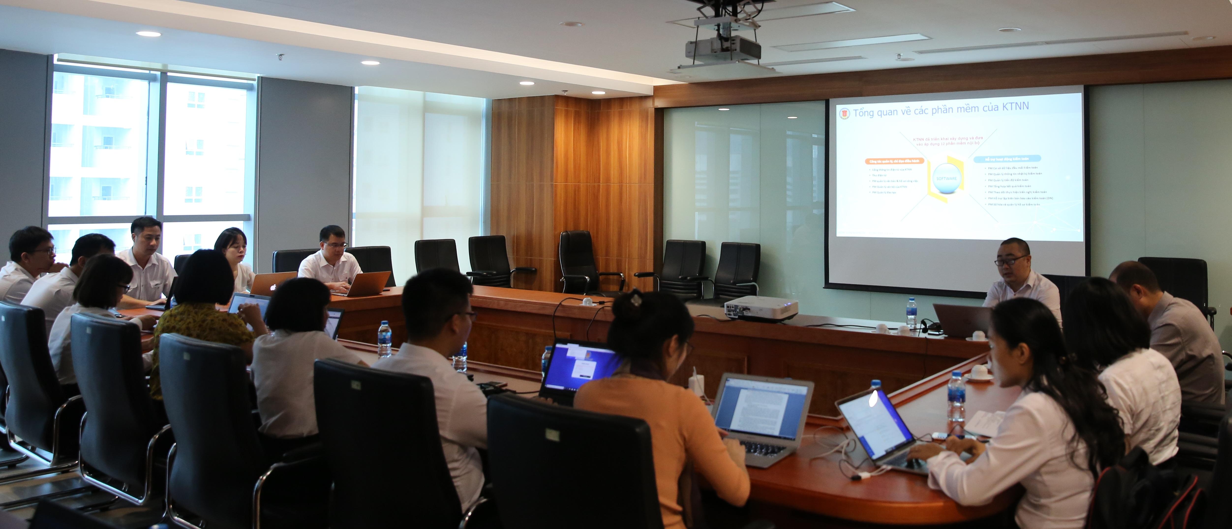 Khai giảng lớp Hướng dẫn sử dụng phần mềm quản lý tiến độ, tổng hợp kết quả kiểm toán