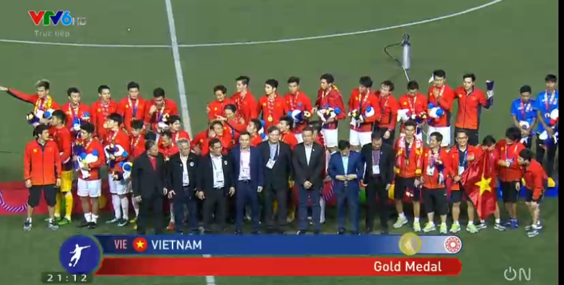 Đội tuyển U22 Việt Nam giành HCV bóng đá nam SEA Games sau 60 năm chờ đợi