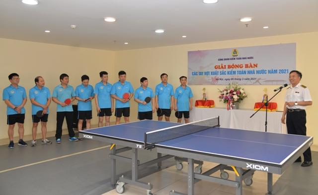 Giải bóng bàn các tay vợt xuất sắc Kiểm toán nhà nước năm 2021