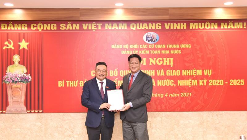 Đồng chí Trần Sỹ Thanh giữ chức vụ Bí thư Đảng ủy Kiểm toán Nhà nước nhiệm kỳ 2020-2025