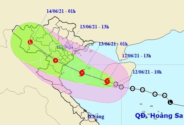 Bão số 2 ảnh hưởng trực tiếp đồng bằng Bắc Bộ và Bắc Trung Bộ
