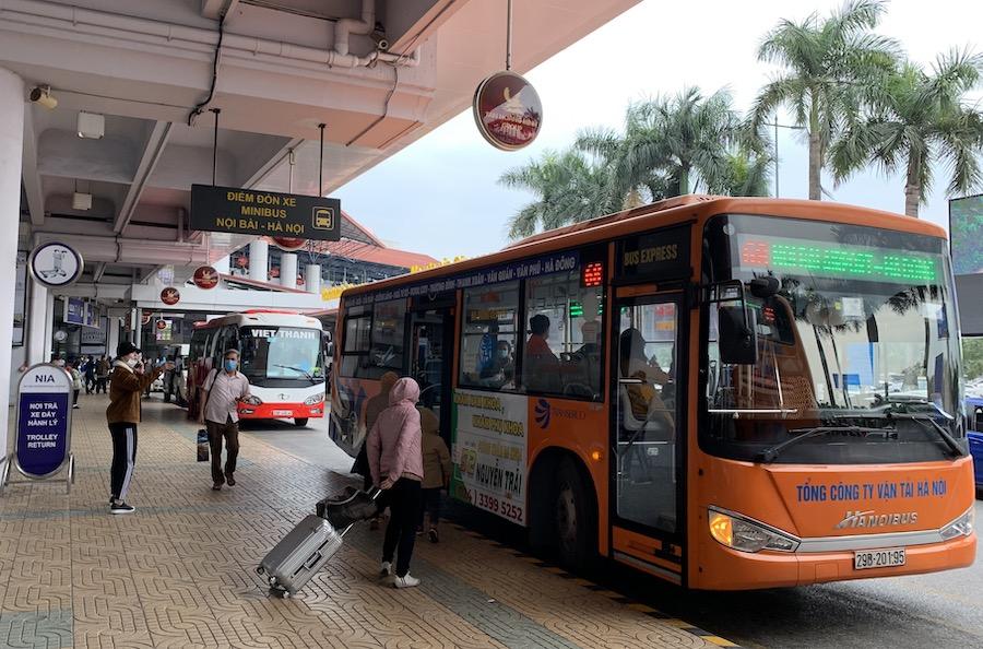 Chưa mở thêm 4 tuyến xe buýt mới đi sân bay Nội Bài