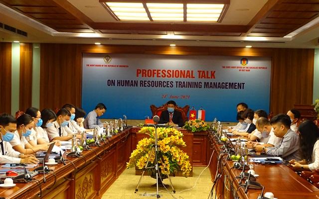 KTNN Việt Nam và Ủy ban Kiểm toán Indonesia tăng cường hợp tác, chia sẻ kinh nghiệm đào tạo nguồn nhân lực