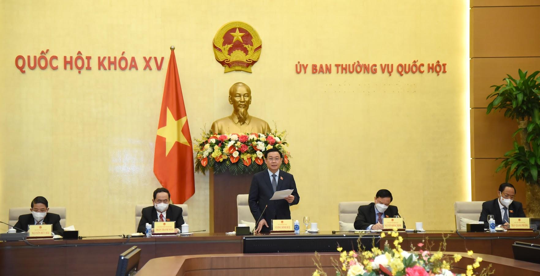 Chủ tịch Quốc hội Vương Đình Huệ: Quốc hội sẽ quyết nghị về phòng, chống Covid-19