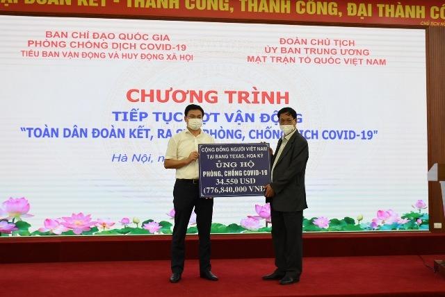 Kiều bào Việt Nam ở nước ngoài đã ủng hộ hơn 60 tỷ đồng cho phòng chống dịch Covid-19