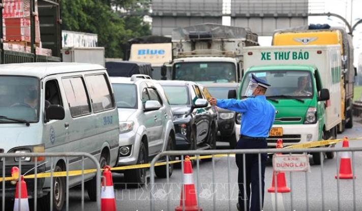 Hà Nội tiếp tục duy trì 22 chốt kiểm soát dịch tại các khu vực cửa ngõ ra vào Thành phố