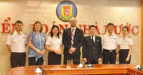 Tổng Kiểm toán Nhà nước tiếp xã giao Đoàn công tác của CAAF