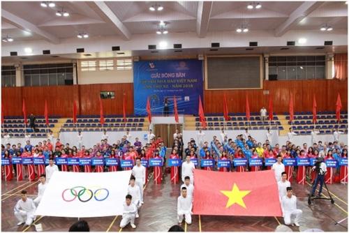 Khai mạc giải bóng bàn Hội Nhà báo Việt Nam 2018