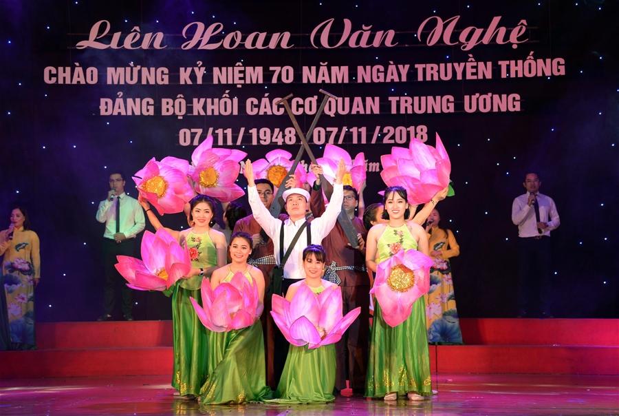 Liên hoan văn nghệ chào mừng Kỷ niệm 70 năm Ngày Truyền thống Đảng bộ Khối các cơ quan Trung ương
