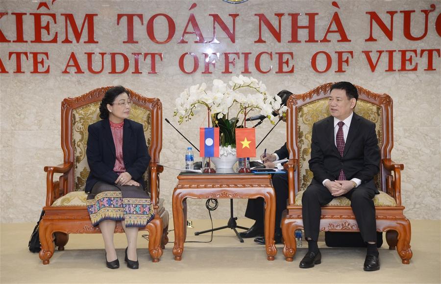 Tổng Kiểm toán Nhà nước Hồ Đức Phớc tiếp Chủ tịch Kiểm toán Nhà nước Lào