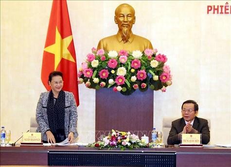 Chủ tịch Quốc hội làm việc với Tập đoàn Dầu khí Việt Nam