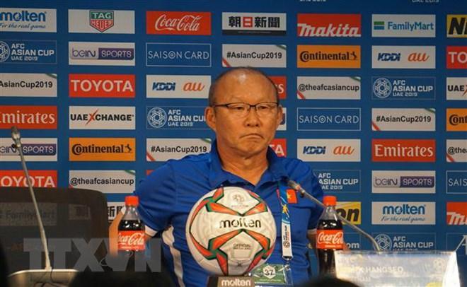 HLV Park Hang Seo hài lòng với chiến thắng của đội tuyển Việt Nam