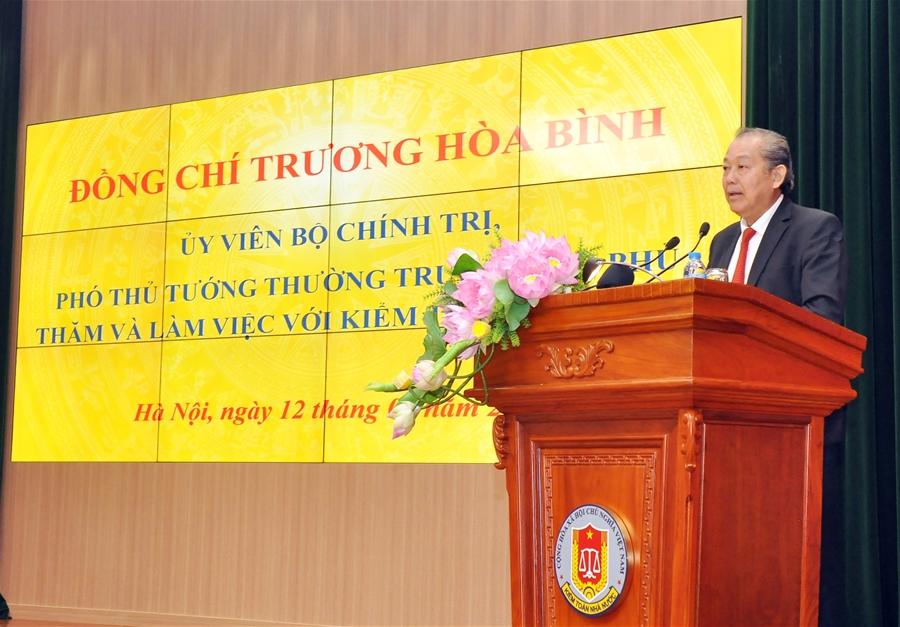 Phó Thủ tướng Thường trực Chính phủ Trương Hòa Bình thăm và làm việc tại Kiểm toán nhà nước