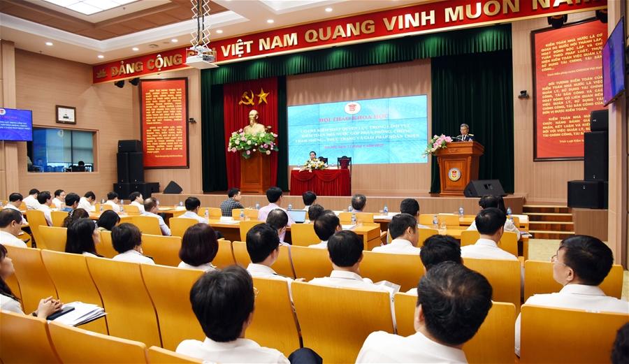 Hội thảo về cơ chế kiểm soát quyền lực trong lĩnh vực KTNN góp phần phòng, chống tham nhũng
