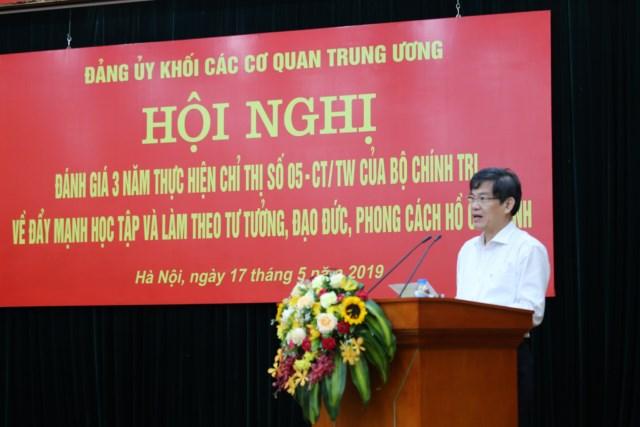 Hội nghị đánh giá 3 năm thực hiện Chỉ thị số 05-CT/TW của Bộ Chính trị