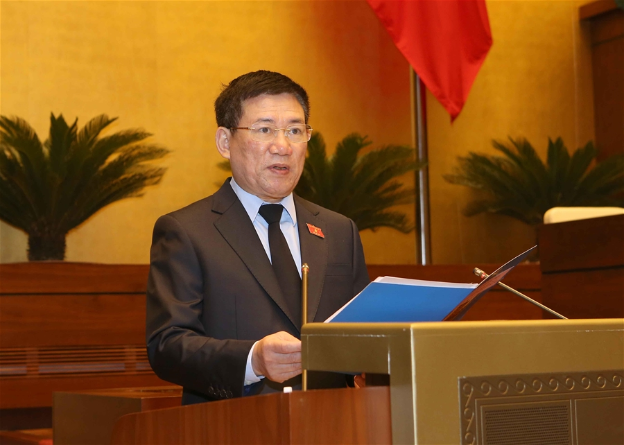 Tổng Kiểm toán Nhà nước Hồ Đức Phớc trình Quốc hội Dự án Luật sửa đổi, bổ sung một số điều của Luật Kiểm toán nhà nước