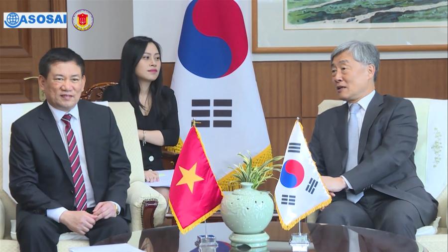 Tổng Kiểm toán Nhà nước Hồ Đức Phớc thăm và làm việc tại Hàn Quốc