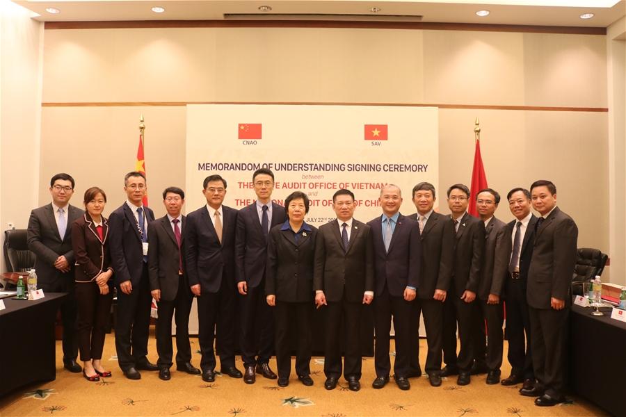 Tổng Kiểm toán Nhà nước Hồ Đức Phớc hội đàm với Tổng Kiểm toán Nhà nước Trung Quốc Hồ Trạch Quân