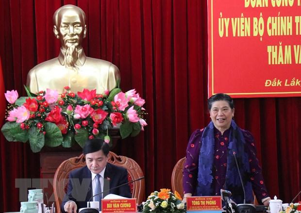 Phó Chủ tịch Thường trực Quốc hội làm việc với Tỉnh ủy Đắk Lắk