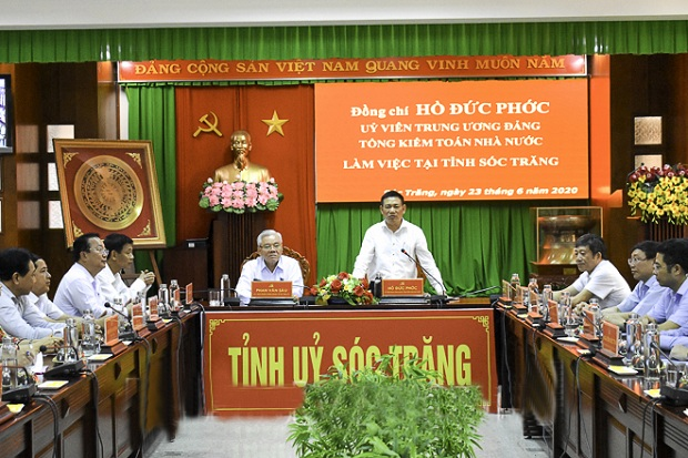 Tổng Kiểm toán Nhà nước Hồ Đức Phớc thăm, làm việc với tỉnh Sóc Trăng và Bạc Liêu
