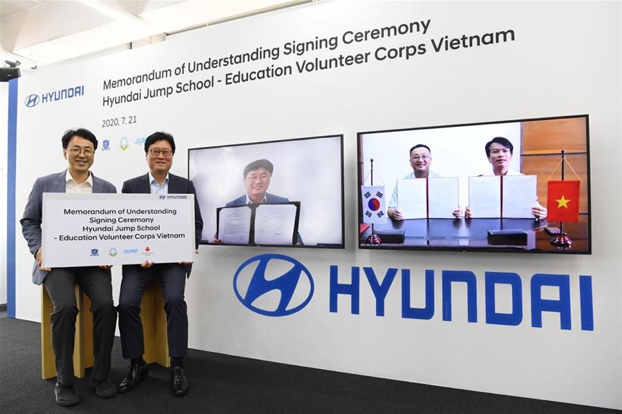 Huyndai sẽ triển khai Chương trình tình nguyện giáo dục cho sinh viên Việt Nam