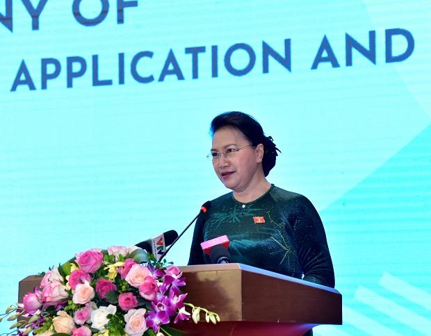 Chủ tịch Quốc hội Nguyễn Thị Kim Ngân dự Lễ công bố Trang thông tin điện tử, bộ nhận diện Năm Chủ tịch AIPA 2020