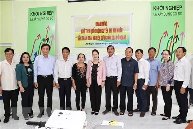 Chủ tịch Quốc hội Nguyễn Thị Kim Ngân thăm và làm việc tại Sóc Trăng