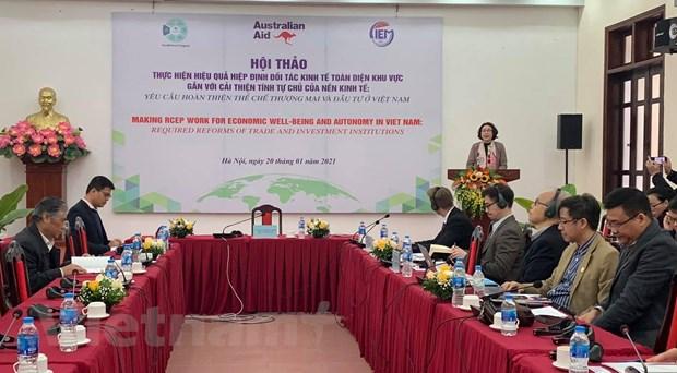 CIEM: Cải thiện tự chủ của nền kinh tế để thu hút lợi ích từ RCEP