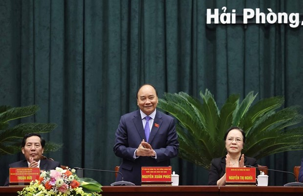Thủ tướng Chính phủ Nguyễn Xuân Phúc tiếp xúc cử tri Hải Phòng