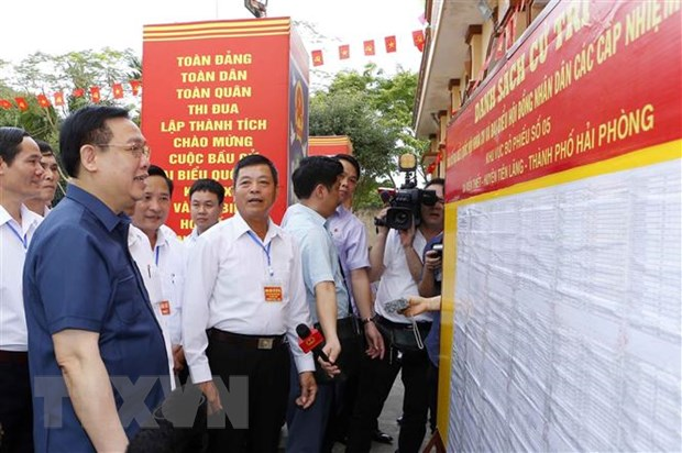 Chủ tịch Quốc hội kiểm tra công tác chuẩn bị bầu cử tại Tiên Lãng