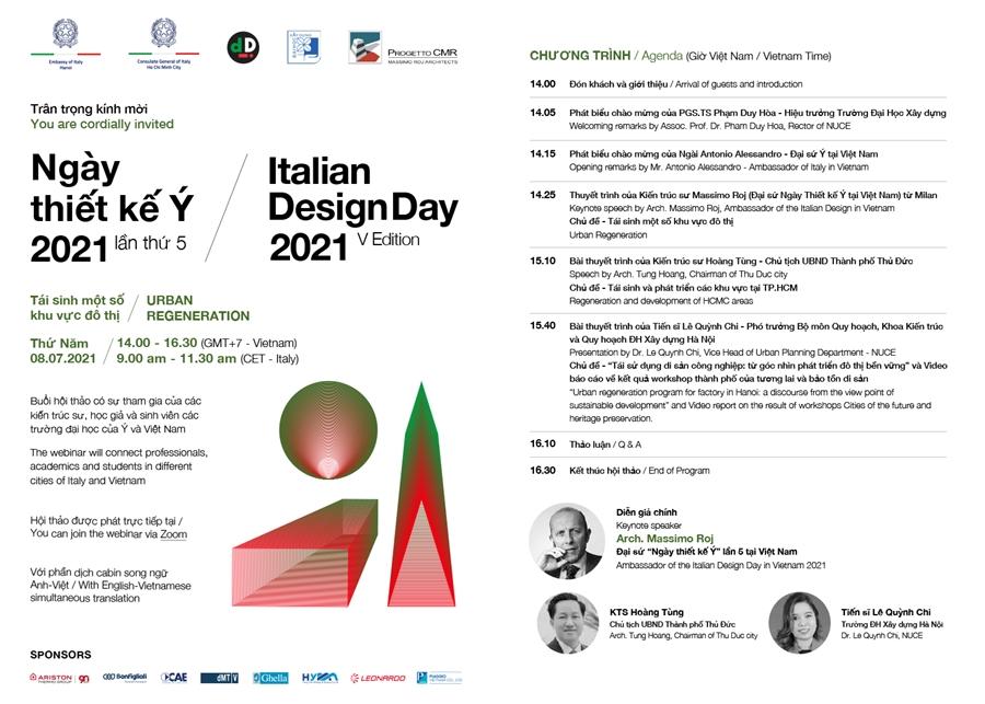 """Sắp diễn ra chuỗi sự kiện """"Ngày thiết kế Ý"""" lần thứ 5"""