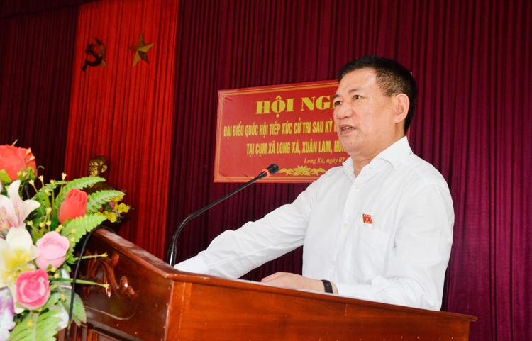 Uỷ viên Trung ương Đảng, Tổng Kiểm toán nhà nước Hồ Đức Phớc tiếp xúc cử tri huyện Hưng Nguyên, tỉnh Nghệ An