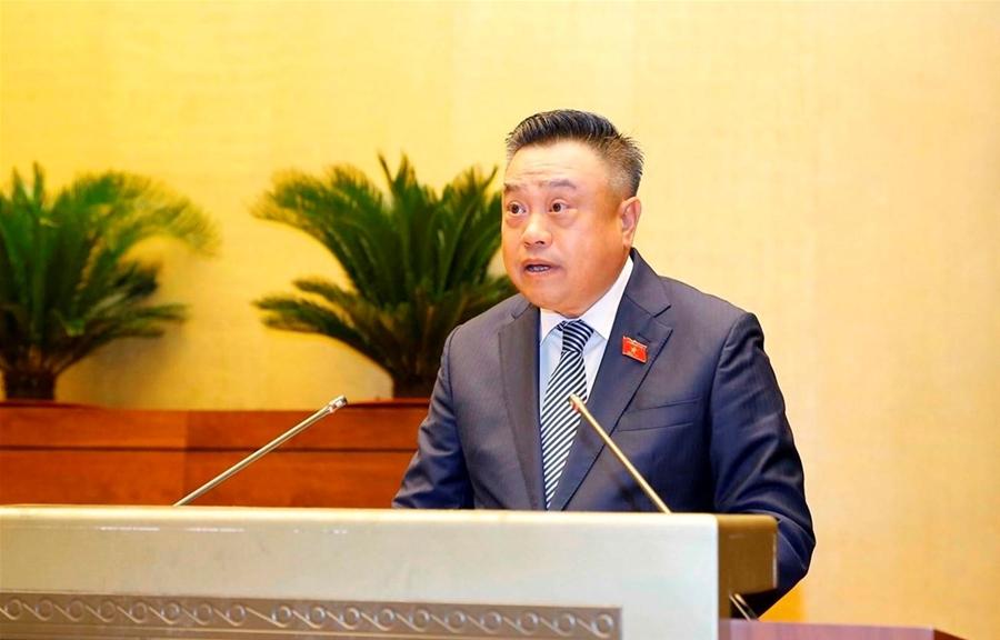 TổngKiểm toán Nhà nướcTrần Sỹ Thanh trình bày Báo cáo kiểm toán quyết toán ngân sách nhà nước năm 2019 trước Quốc hội