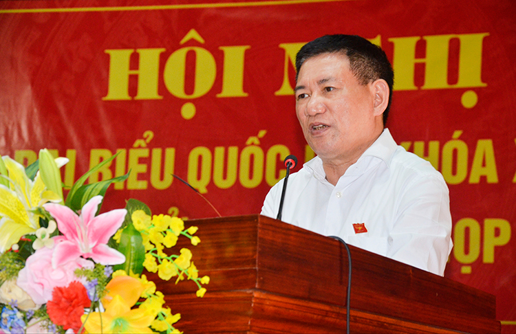 Ủy viên Trung ương Đảng, Tổng Kiểm toán nhà nước Hồ Đức Phớc tiếp xúc cử tri thành phố Vinh, tỉnh Nghệ An