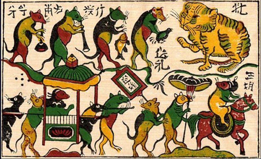 """Sự sáng tạo của nghệ nhân Việt qua bức tranh """"Đám cưới chuột"""""""