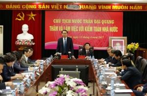 Chủ tịch nước Trần Đại Quang thăm và làm việc với Kiểm toán nhà nước