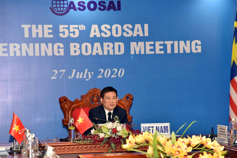Tổng Kiểm toán Nhà nước Hồ Đức Phớc - Chủ tịch ASOSAI nhiệm kỳ 2018-2021, điều hành Cuộc họp
