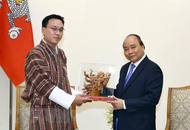 Thu tuong Nguyen Xuan Phuc tiep Chu tich Thuong vien Bhutan hinh anh 1